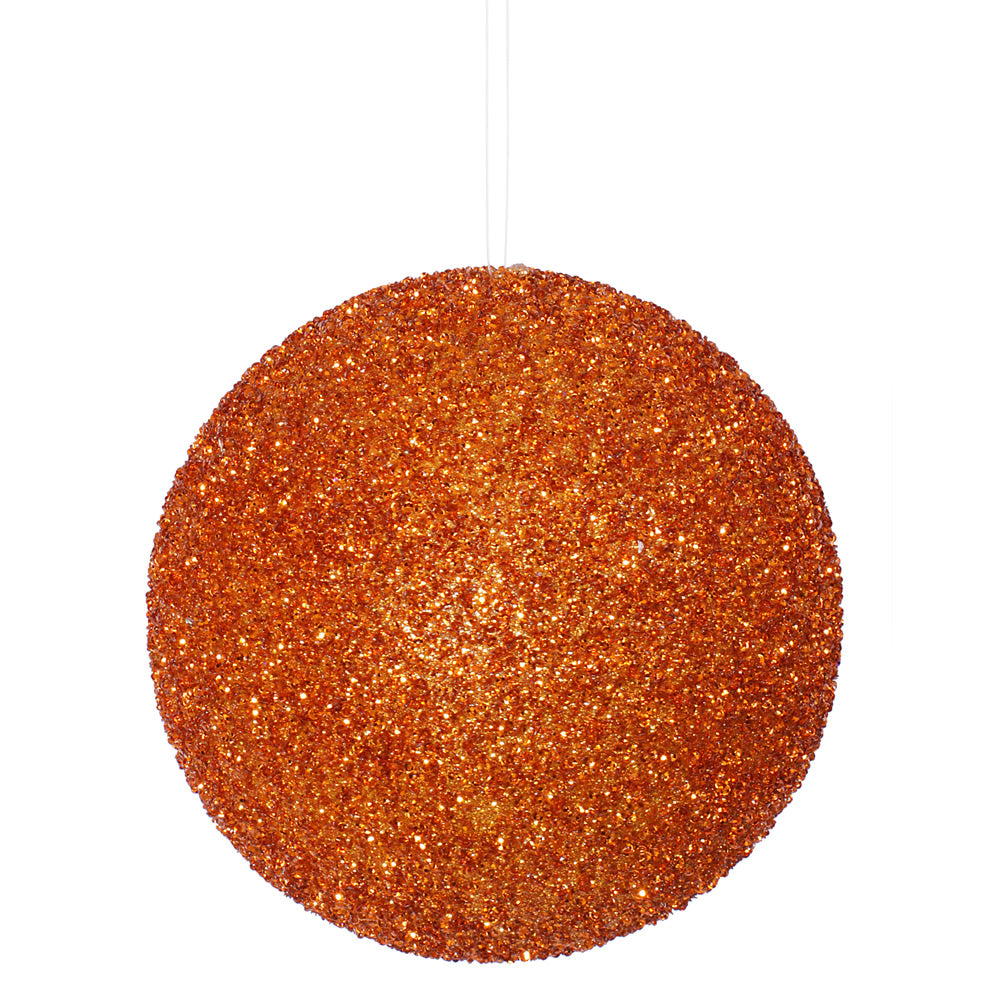 8'' Burn Orange Bead Sequin Ball 1/Box