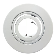 "MR16 Recessed Lighting Trim 4"" Adjustable to fit 3"" Can White Gimbal Ring Trim"
