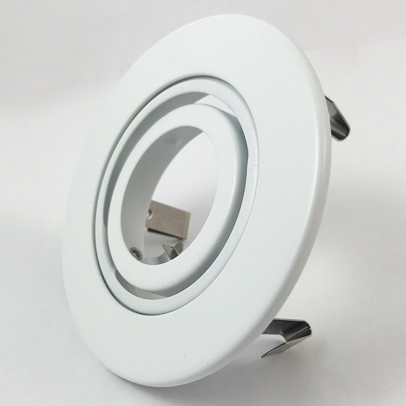 Mr16 recessed lighting trim 4 adjustable to fit 3 can white mr16 recessed lighting trim 4 adjustable to fit 3 can white gimbal ring mozeypictures Images