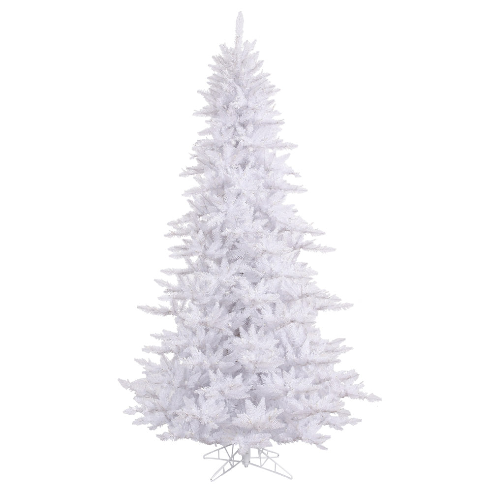 Vickerman 3' Unlit White Fir Artificial Christmas Tree - 234 Tips Plastic stand