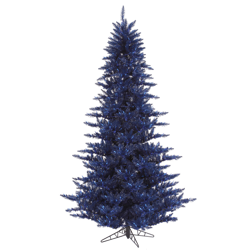 Vickerman 3' Unlit Navy Blue fir Artifical Christmas Tree - 234 Tips Metal stand