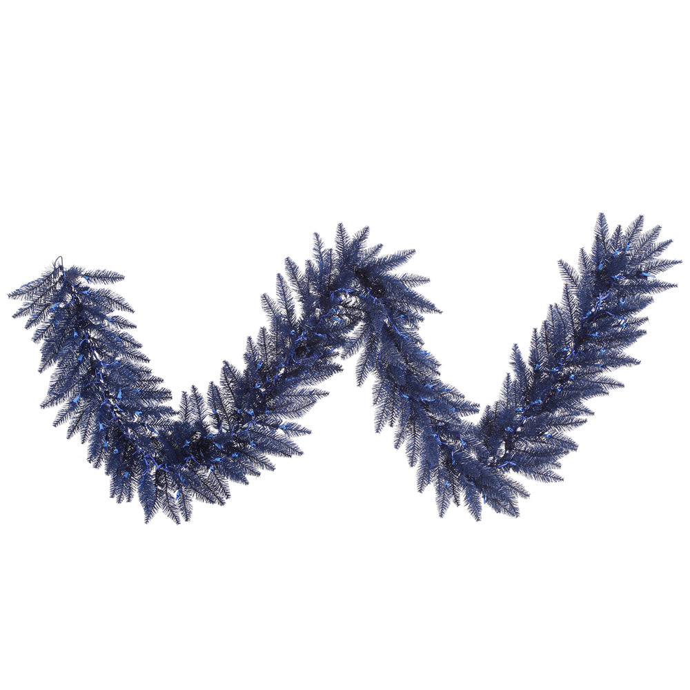 "9' x 14"" Unlit Unlit Navy Blue Fir Garland - 250 Tips"