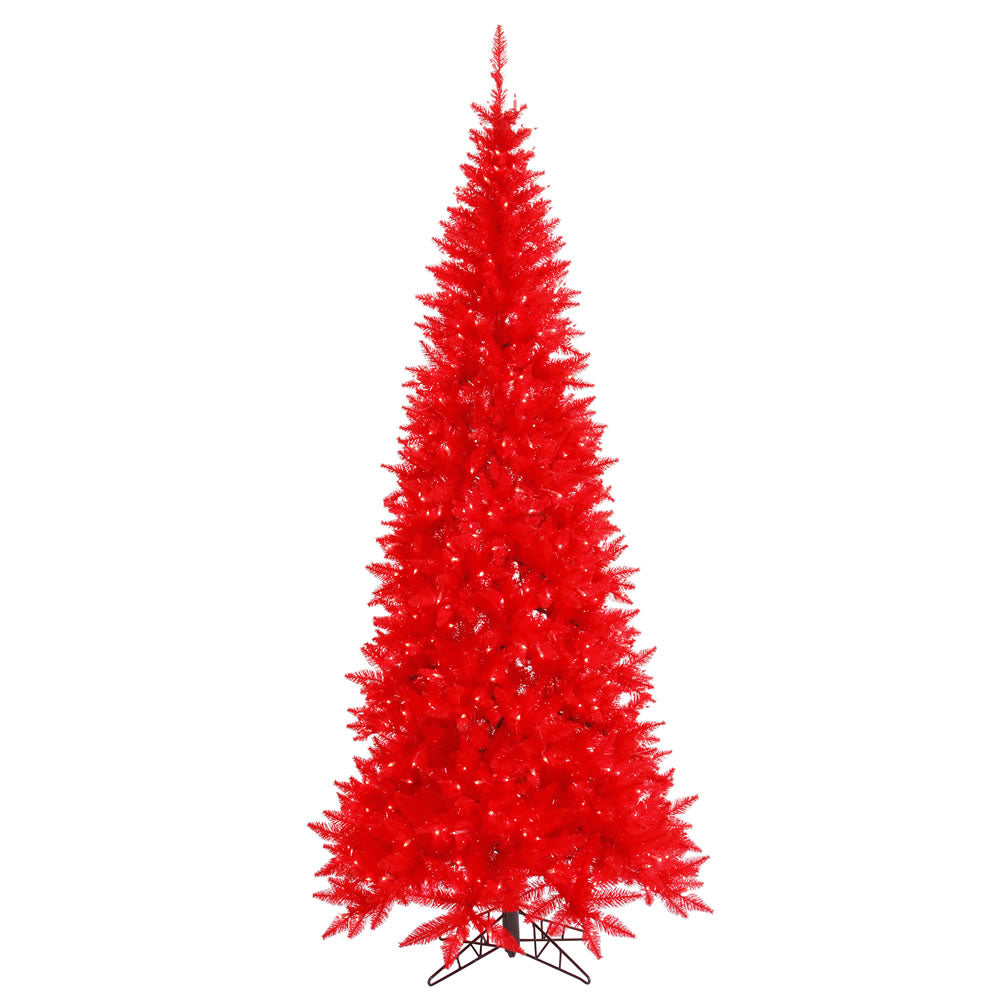 Vickerman 6.5Ft. Red 948 Tips Christmas Tree 400 Red Mini Lights
