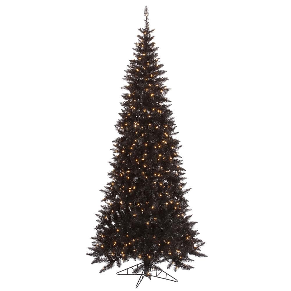 Vickerman 10Ft. Black 2260 Tips Christmas Tree 900 Clear Mini Lights
