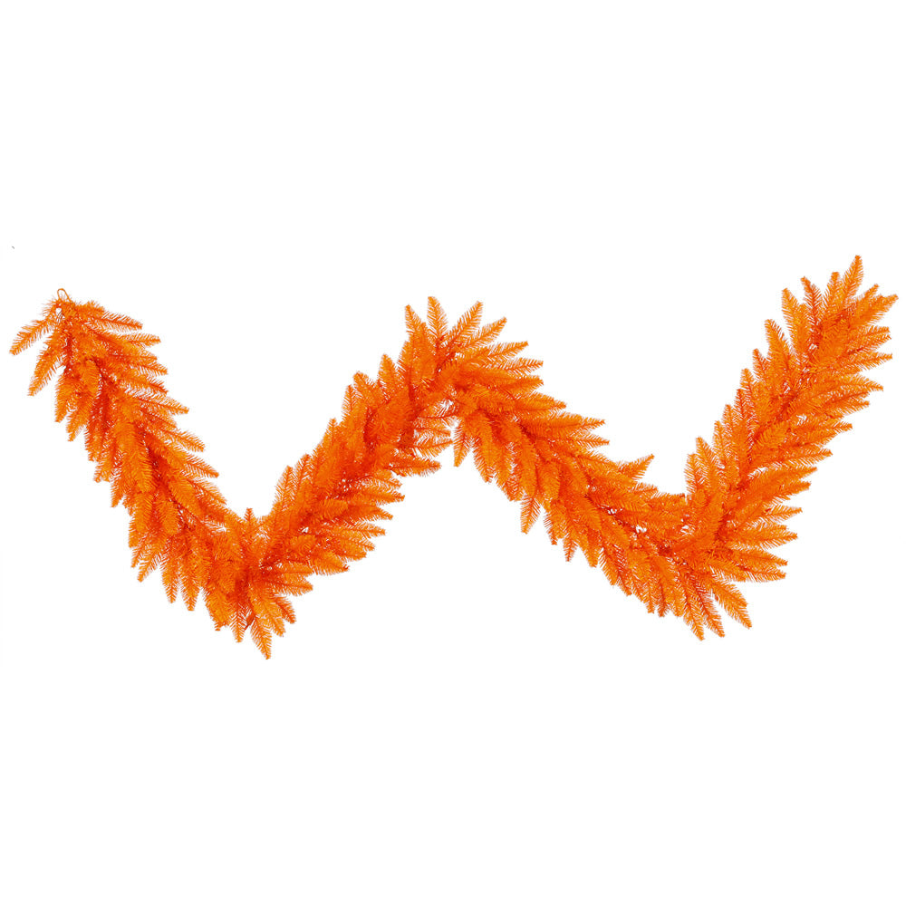 "9' x 14"" Orange Fir Garland 250T"