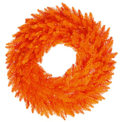 "Unlit 30"" Orange Fir Artificial Wreath - 260 PVC Tips"