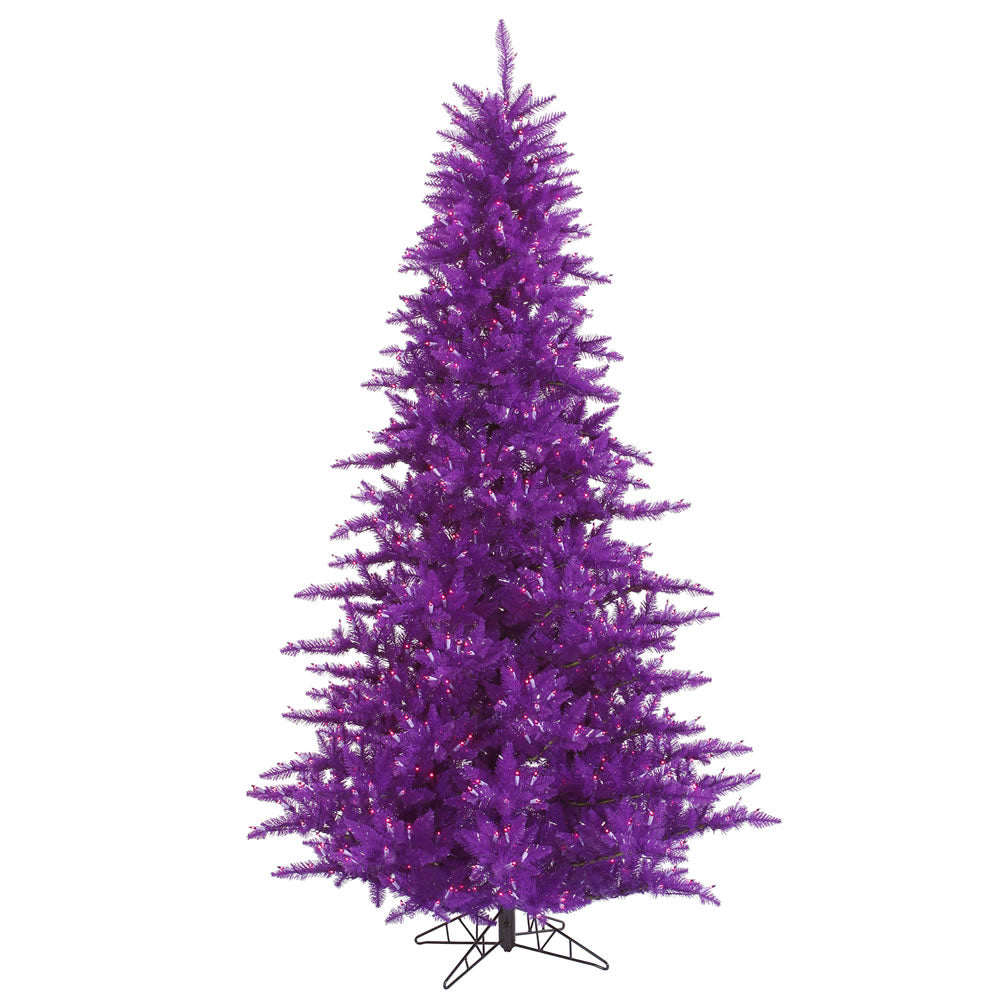 Vickerman 10Ft. Purple 2980 Tips Christmas Tree 1150 Purple Mini Lights