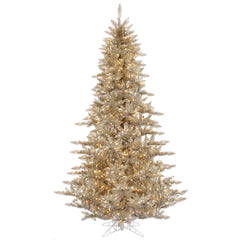Vickerman 3' Champagne Artificial Tree 234 PVC Tips 100 Clear Dura-Lit Lights