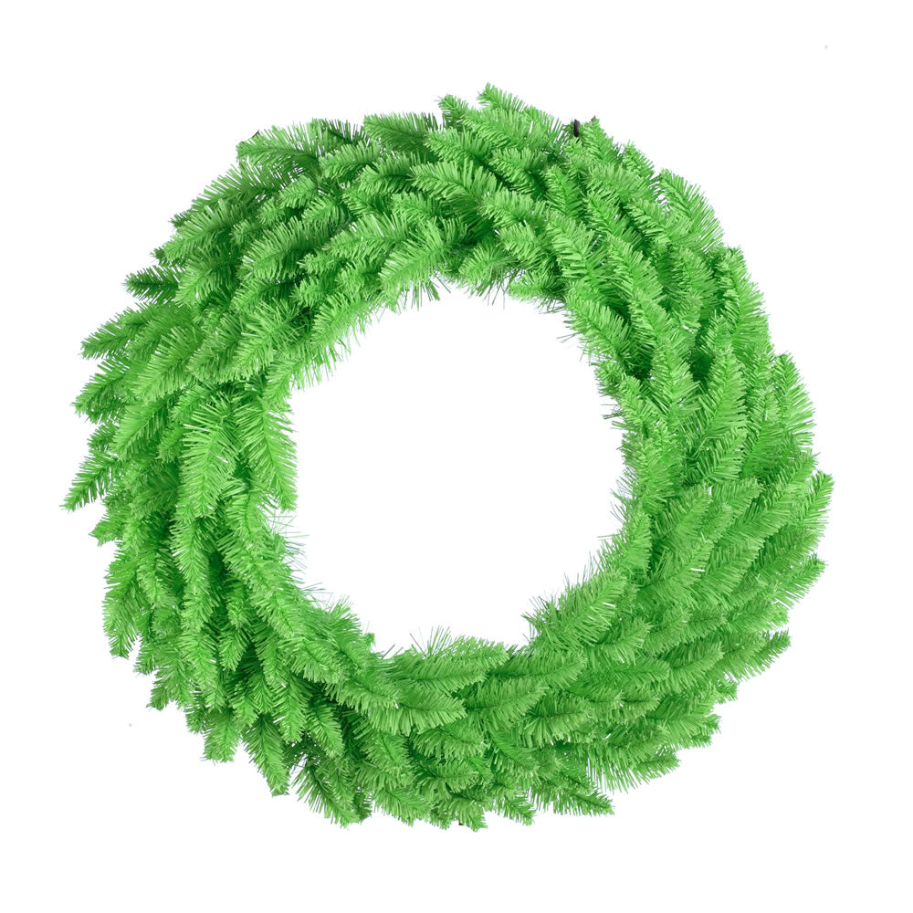 Vickerman 24in. Lime 210 Tips Wreath 50 Lime Mini Lights