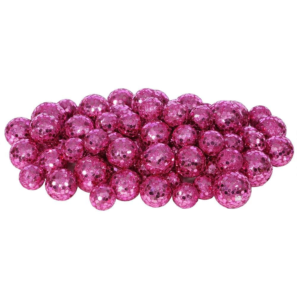 20-25-30MM Magenta Glitt Ball 72/Bag