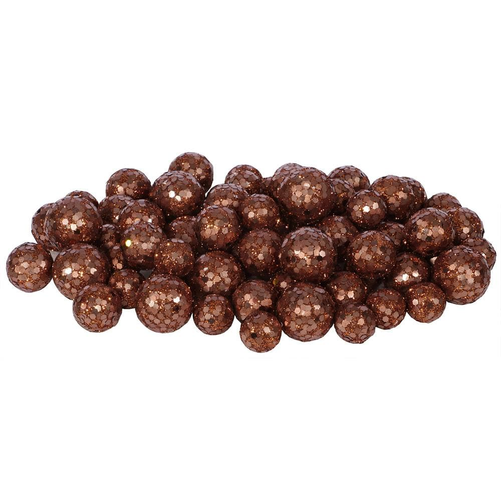 20-25-30MM Dk Copper Glitt Ball 72/Bag