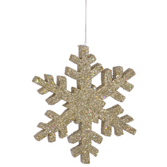"12"" Champagne Outdoor Glitter Snowflake"