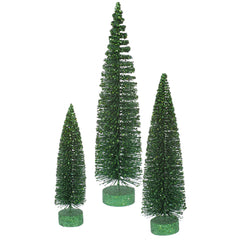 "12""-16""-20"" Emerald Glit Oval Tree Set"