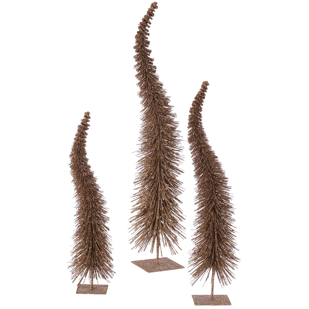 "18""-22""-26"" Mocha Glit Curved Tree Set"