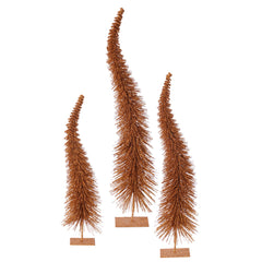 "18""-22""-26"" Copper Glit Curved Tree Set"