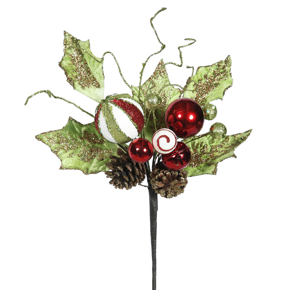 "3PK - 22"" Red Jingle Bell Holly Indoor Spray"