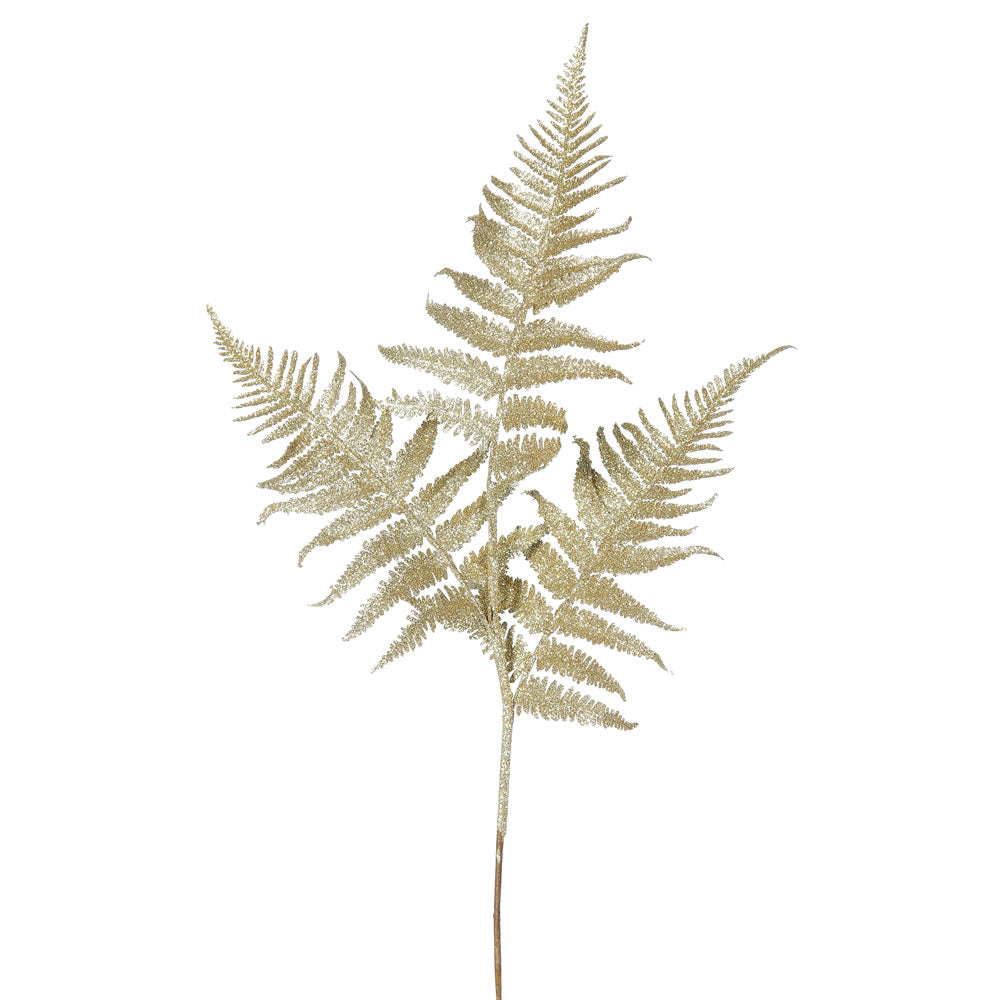 "6PK - 22"" Gold Onoclea Glitter Fern Indoor Spray"