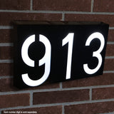Waterproof Solar Power LED Address Number Door Wall Plate Light Sign - Digit 6_1