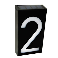 Waterproof Solar Power LED Address Number Door Wall Plate Light Sign - Digit 2