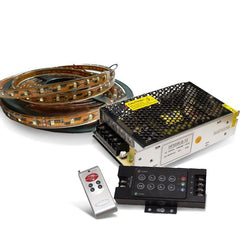 16.4ft RGB 150 SMD Flexible LED Strip w/ Power Supply and Controller Package