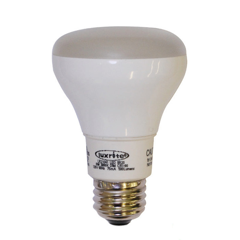 LUXRITE 8W E26 6500K R20 Dimmable Light Bulb