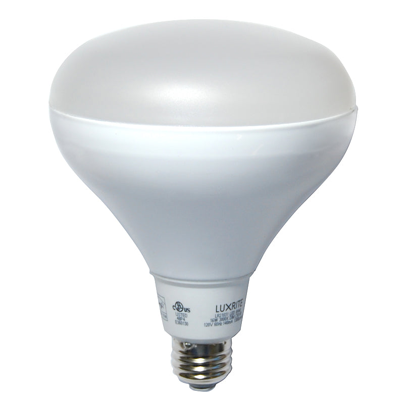 Luxrite 16w BR40 Dimmable LED Soft White 3000k Floodlight Bulb