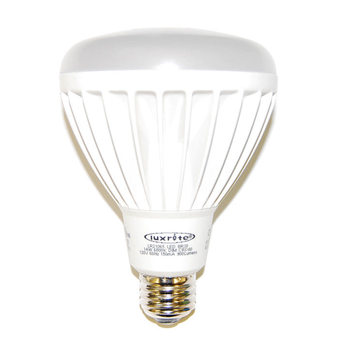 Luxrite 14w 120v BR30 6500k Dimmable LED Light Bulb