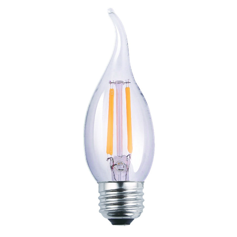 Luxrite 6W 5000K LED Flood E26 Medium Antique Filament Clear Light Bulb