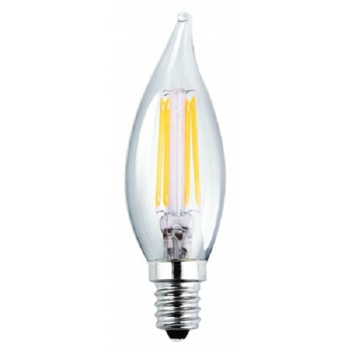 Luxrite Antique Filament LED 4 Watt 4100K E12 Chandelier Clear Light Bulb