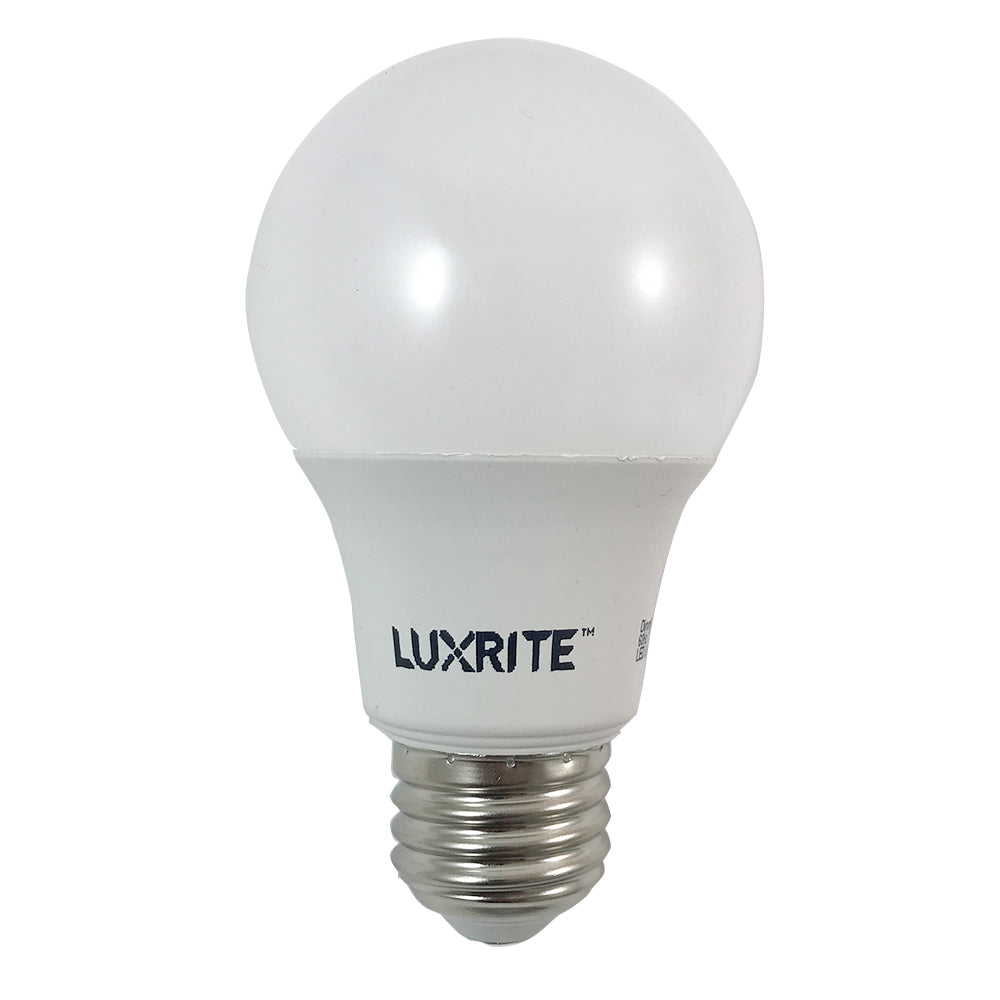 4 Bulbs - Luxrite 9w A-Shape A19 3000k E26 800 Lumens LED Dimmable Light Bulb