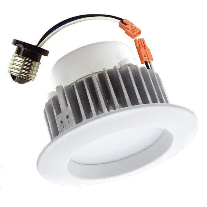 "LUXRITE 9W 5000K 4"" E26 Dimmable LED Retrofit Downlight Round Trim Light Bulb"