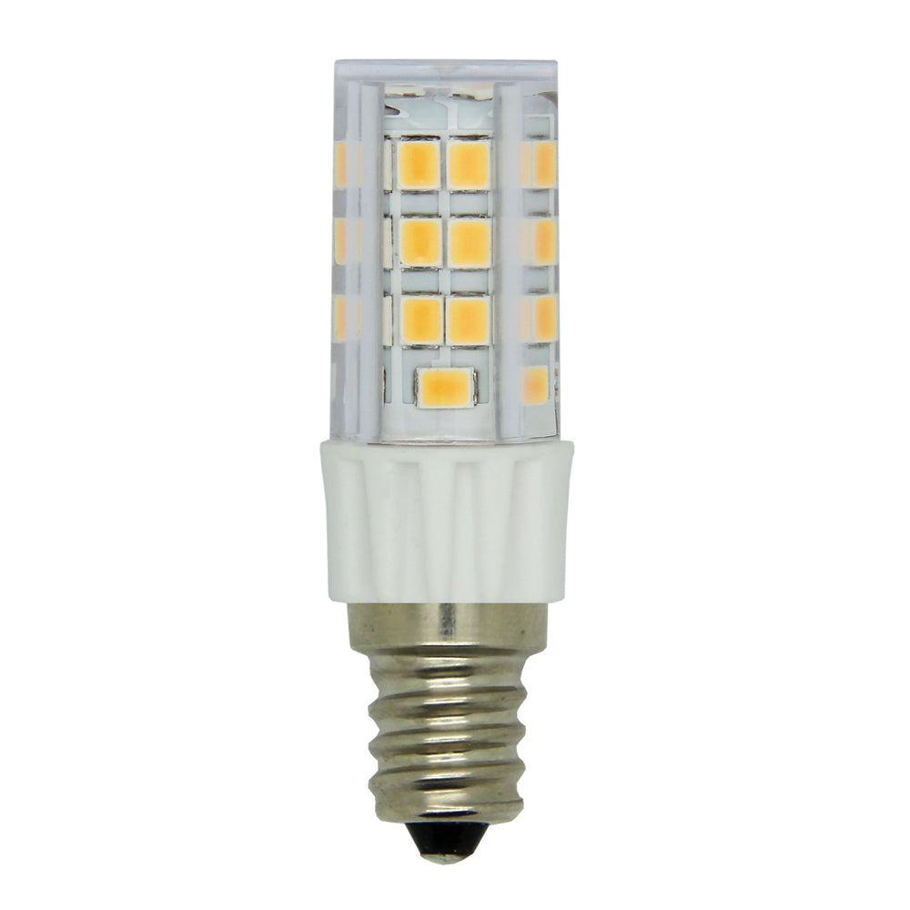 Luxrite 4.2w E12 LED Dimmable 5000K Bright White Clear Light Bulb