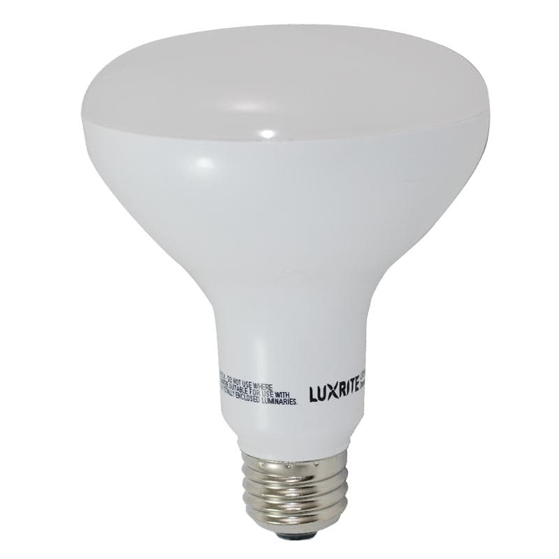 Luxrite 10W BR30 Dimmable LED 5000K Bright White Light Bulb