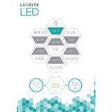 Luxrite 9W BR30 Dimmable LED 4000K Cool White Light Bulb_3