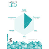 Luxrite 9W BR30 Dimmable LED 4000K Cool White Light Bulb_4