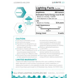 Luxrite 9W BR30 Dimmable LED 4000K Cool White Light Bulb_5