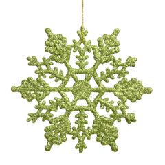 Vickerman 4 in. Lime Glitter Snowflake Christmas Ornament
