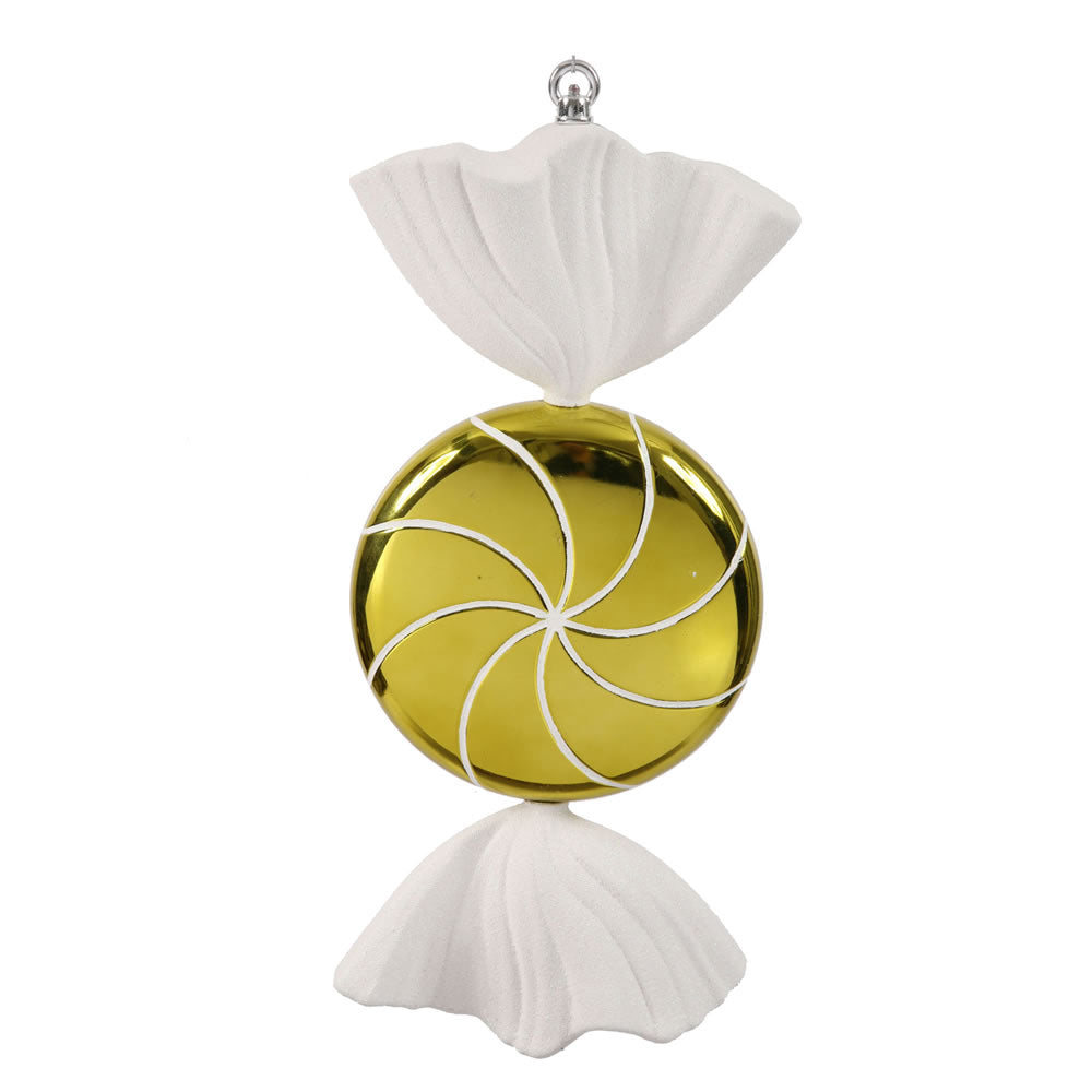 Vickerman 18.5 in. Lime-White swirl Candy Candy Christmas Ornament