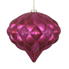 Vickerman 145mm. Fuchsia Glitter Onion Christmas Ornament
