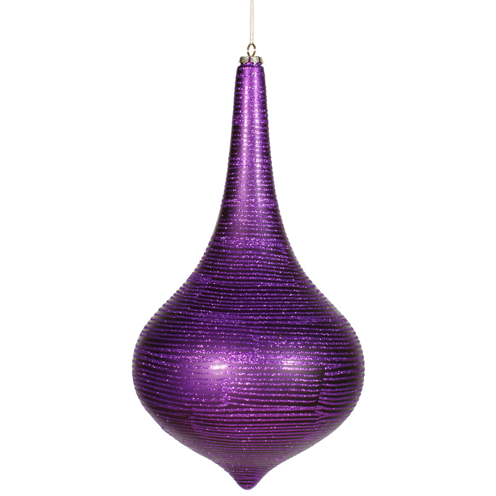 "16"" Purple Matte-Glitter Onion Drop"