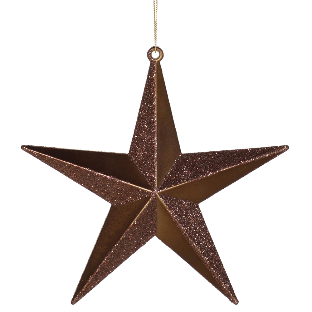"6"" Chocolate Glitter Star Ornament"