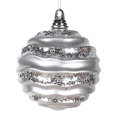 6'' Silver Candy Glitter Wave Ball