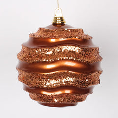 "8"" Copper Candy Glitter Wave Ball"