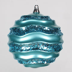 10'' Teal Candy Glitter Wave Ball