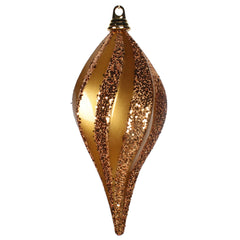 12''Antiq Gold Candy Glitter Swirl Drop