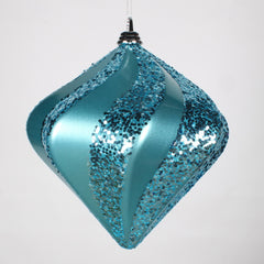 10'' Teal Candy Glitter Swirl Diamond