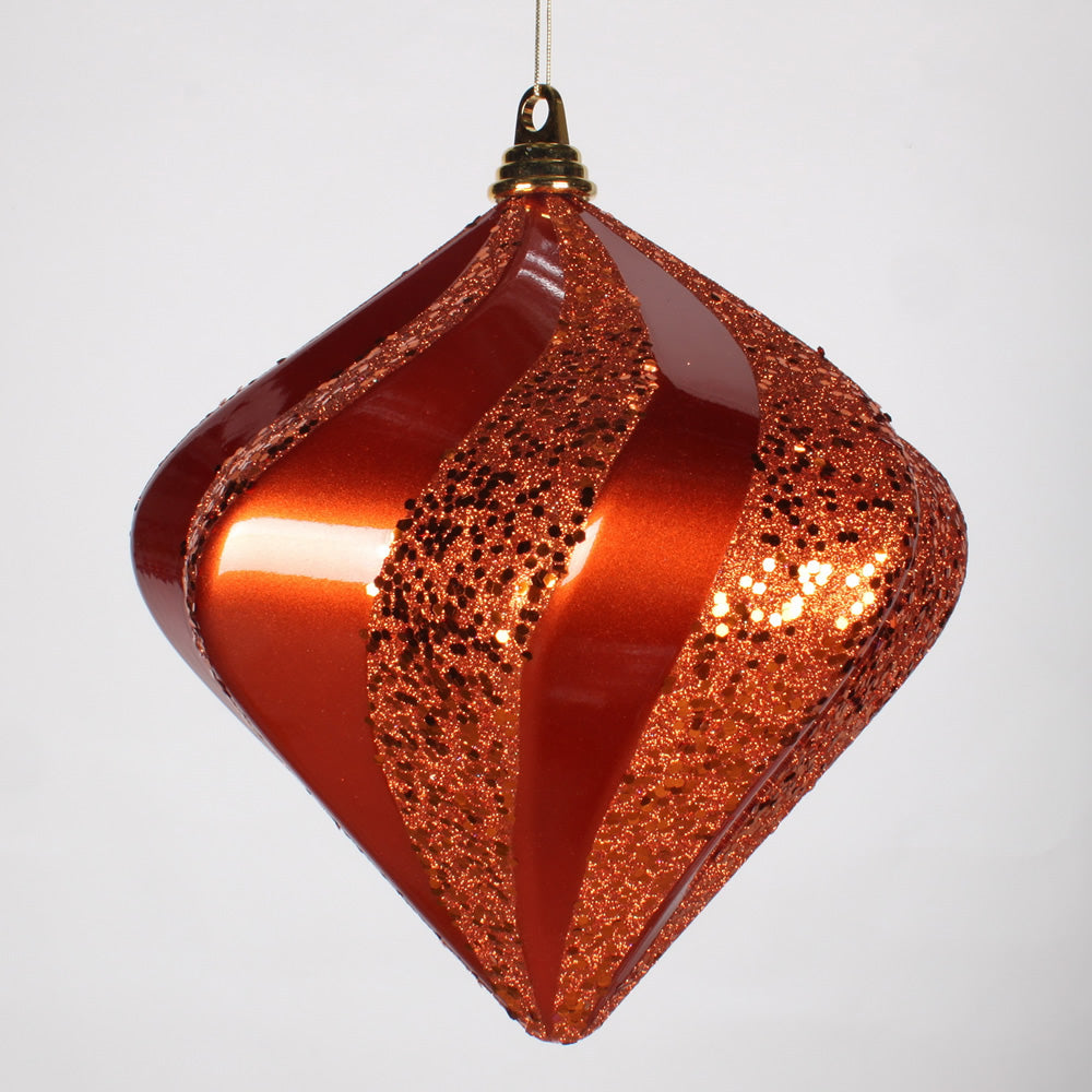 10'' Orange Candy Glitter Swirl Diamond