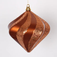 "10"" Copper Candy Glitter Swirl Diamond"