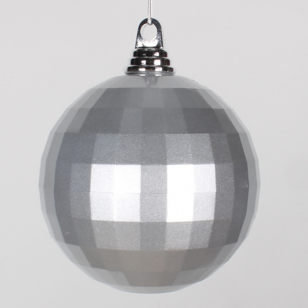 5.5'' Silver Candy Mirror Ball Ornament 1/Bag