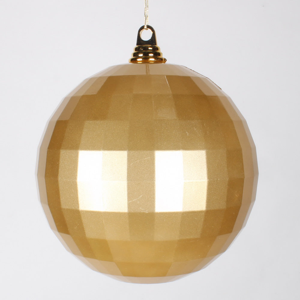 8'' Gold Candy Mirror Ball Ornament 1/Bag